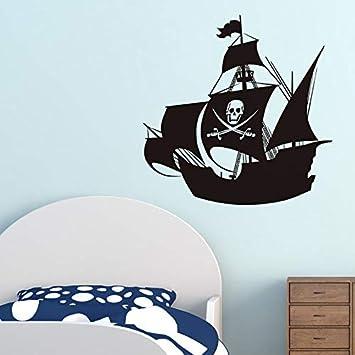 Pegatinas de pared de barco pirata para la habitación de los niños ...