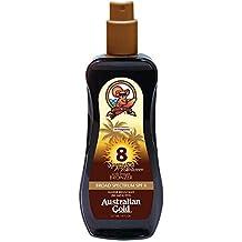 Australian Gold Spf#08 Spray Gel With Instant Bronzer 8oz