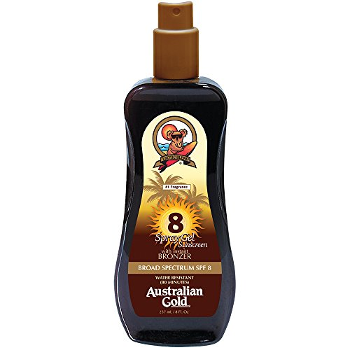 Australian Gold Spray Gel Sunscreen With Instant Bronzer
