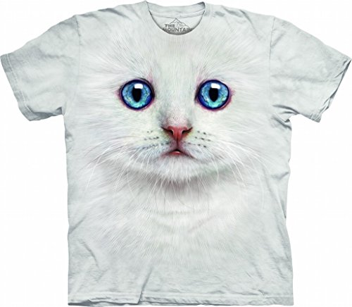 - The Mountain Ivory Kitten Face Child T-Shirt, Ivory, XL