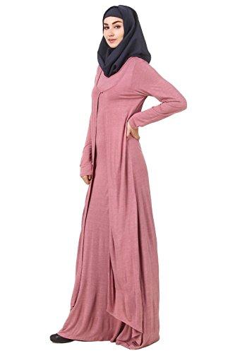 Kleid Abaya Casual Muslim Formal rosa AY Frauen 563 Jersey MyBatua Wear qn6R8OS6F