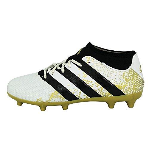 adidas Herren Ace 16.3 Primemesh FG/AG Fußballschuhe Weiß (Ftwr White/Gold Metallic/Core Black)