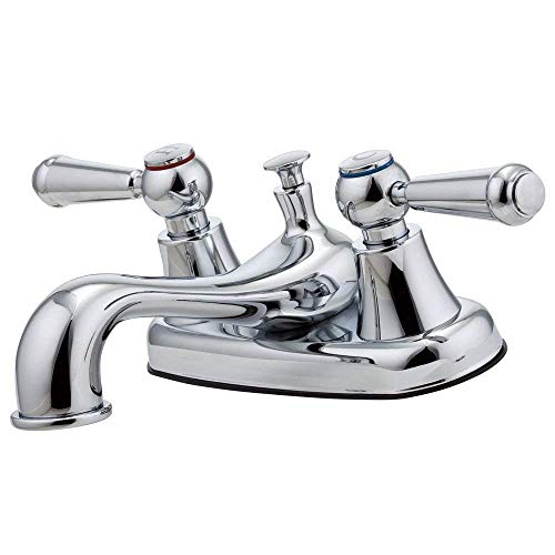 (Pfister G1485000 Pfirst Series 2-Handle 4 Inch Centerset Bathroom Faucet in Polished Chrome )