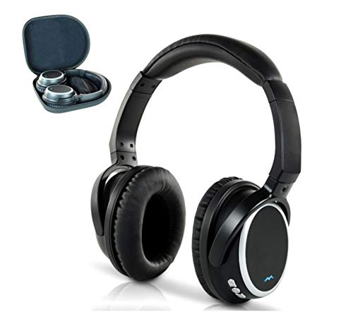 Miccus aptX Low Latency Wireless Headphones for TV Watching, Comfortable Over Ear Bluetooth 5.0 Headset with Mic, High Fidelity w/NO DELAY, Noise Isolating Phone PC Computer Airplane (SR-71 Stealth) (Stealth Jam Block)