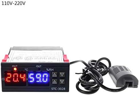Biuuu デジタルサーモスタット調湿器湿度および温度調節器AC 110V 220V 10A