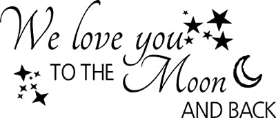 We love you to the Moon and back wall quote wall sticker wall decals quotes