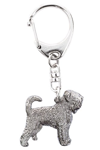 Black Russian Terrier Made in U.K Artistic Style Dog Key Ring -