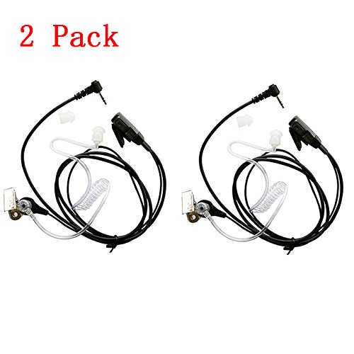Marvogo 1 Pin Covert Acoustic Tube Earpiece Headset for Motorola MD200TPR MH230R MR350R MS350R MT350R MG160A MH230TPR COBRA Talkabout Walkie Talkie Two Way Radio 1pin (2 Pack)