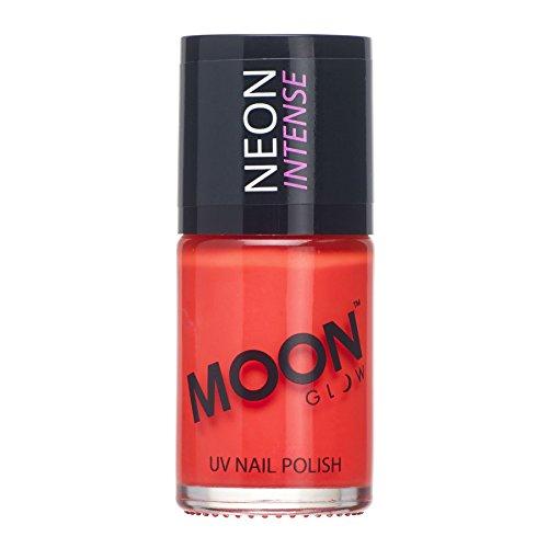 Moon Glow - Blacklight Neon UV Nail Varnish 0.48oz Intense Red - Glows brightly under Blacklights/UV Lighting!