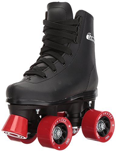 Piece 12 Eyelets (Chicago Boys Rink Roller Skate (Size 1), Black)