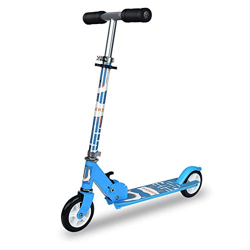 - UHINOOS Kick Scooter for Boys and Girls 3-11 Years Old Tree Adjustable Lever Height Easy Folding Kids Scooter with PVC Wheels(Blue)