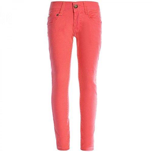 Kinder Mädchen Chino Hose Bermuda Shorts Sommer Capri Pump Pants Jeans 20499, Farbe:Orange;Größe:128