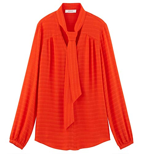 Orange Promod lavallire Promod Femme Blouse Orange Femme Blouse lavallire BFwHq4SF8