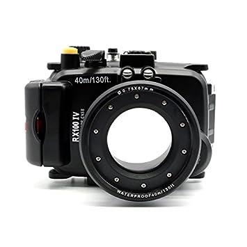 carcasa submarina para cámara Sony RX100 IV RX100 M4 Equipo con zumbador y un cuarto conector trípode Alarma Precisa - Carcasa acuática para cámaras