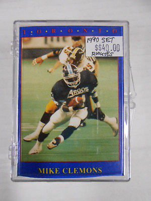 CFL Football series 1 complete mint set ( pinball Clemons rookie)1990