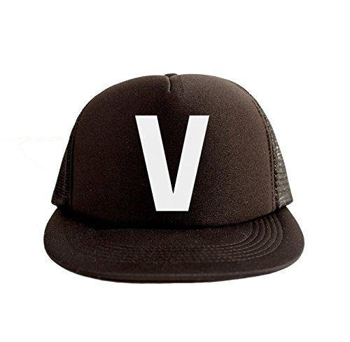 V Cool Swag Hip Hop Print 80s Style Snapback Hat Cap Black