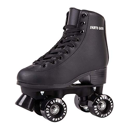 Skate Gear Classic Quad Faux Leather Roller Skates