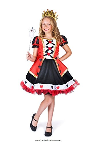 Queen of Hearts Girl Costume Set - Costume Party, Trick or Treating - Medium