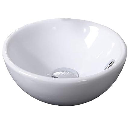 Countertop Sink Bathroom Basin Bowl White Ceramic Amazoncouk Diy