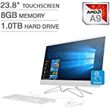 "2019 HP 23.8"" FHD Touchscreen IPS-WLED Backlit Micro Edge Display AIO Desktop Computer, 7th Gen AMD A9-9425 Up to 3.7GHz, 8GB DDR4 RAM, 1TB HDD, 802.11AC Wifi, Bluetooth 4.2, HDMI, USB 3.0, Windows 10"