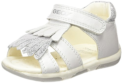 De B Geox Senderismo Bebés Para Blanco Botines silverc0007 Tapuz white Girl B Sandal IYwOYx