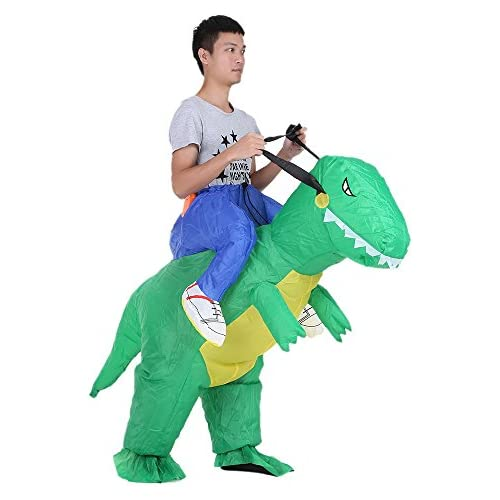 chollos oferta descuentos barato Anself Disfraz Inflable de Dinosaurio para Fiesta Halloween Cospaly Carnaval