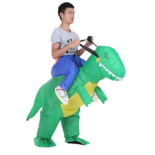 🥇 Anself – Disfraz Inflable de Dinosaurio para Fiesta / Halloween / Cospaly / Carnaval