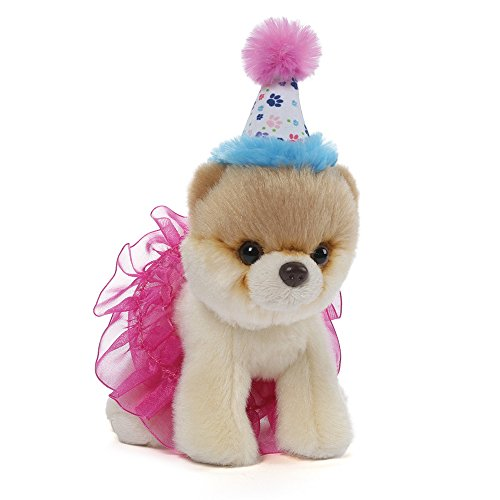GUND Itty Bitty Boo #027 Birthday Tutu Dog Stuffed Animal Plush, 5