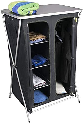 3/compartimentos Camping Plegable Armario 56/x 48/x 86/cm incluye bolsa
