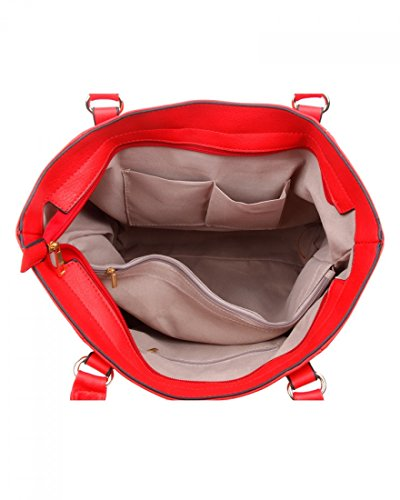 Shoulder Bag Size Women LeahWard Leather Scarlet Handbags School For CW14128 Holiday Faux For Shoulder Large Office Bag wqxx5XTtZ