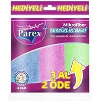Parex Microfibre Cleaning Cloth 32X32Cm - 3 Count, Multi Color
