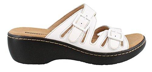 Women's Clarks 9 Mid Sandals W WHITE Heel Liri Delana 7FPqaT