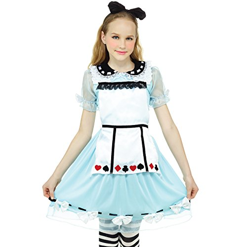 Book Week Costume For Kids (Alice In Wonderland Kids Story Fairytale World Book Day Childrens Girls Costume)