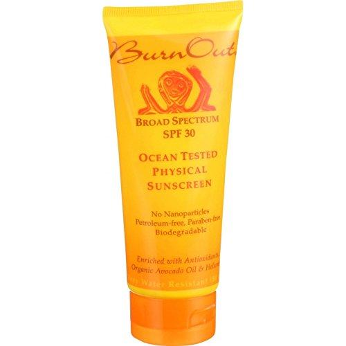 Burn Out SPF 30 Physical Sunscreen, Ocean Tested, 3.4 Ounce