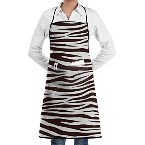(Xayeu Metro Living Zebra Chocolate Bib Kitchen Apron, Cooking Apron, Chef Aprons, Apron for Women, Apron for Men, Durable, Machine Washable, Comfortable)