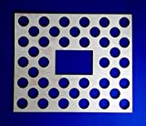 Poker Chip Display Frame Insert for Harley or Casino Chips, 42 chips insert with cut-out, laser engraved chip holder