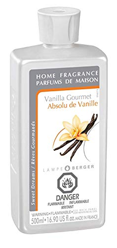 Vanilla Gourmet | Lampe Berger Fragrance Refill by Maison Berger | for Home Fragrance Oil Diffuser | Purifying and perfuming Your Home | 16.9 Fluid Ounces - 500 milliliters | Made in France