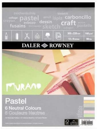 Daler-Rowney Murano Colored Pastel Paper Pad 9 x 12 Neutral