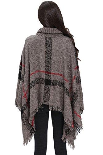 Helana's Secret - Poncho - capa - para mujer gris