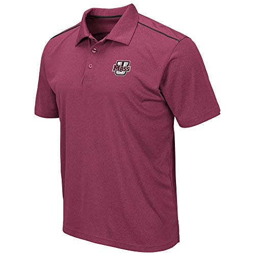 Mens UMass Massachusetts Minutemen Eagle Short Sleeve Polo Shirt - L