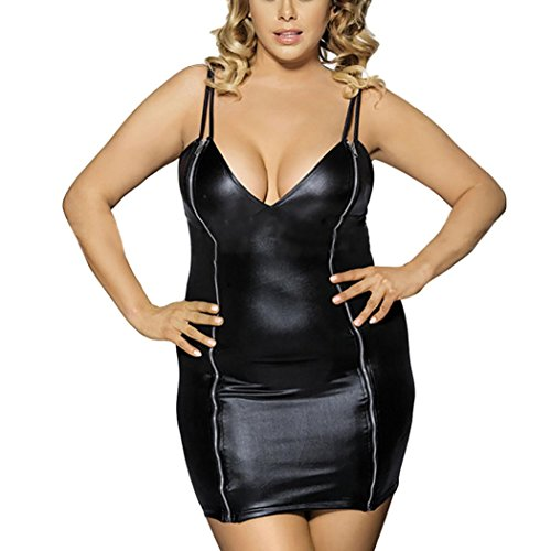 d530d061b39a De alta calidad Ropa Interior, YanHoo Mujeres Sexy Artificial Leather  Underwear Bodysuit Camisole Lingerie Clubwear