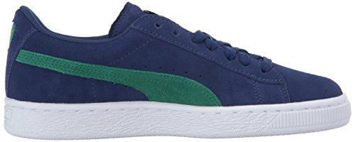 Puma Kids Suede Sneaker,Blue Depths-Verdant Green,12.5 M US Little Kid