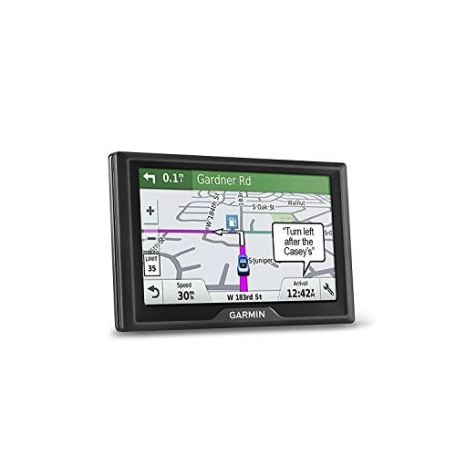 Garmin Drive 51 USA LM GPS Navigator System with Lifetime Maps, Spoken Turn-By-Turn Directions, Direct Access, Driver Alerts, TripAdvisor and Foursquare Data (Renewed)