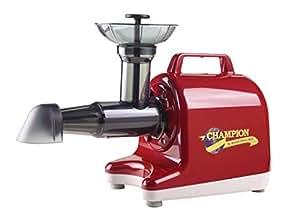 Champion Household Juicer 4000 Masticating Juicer (Red)
