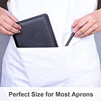 Server Books for Waitress with Zipper Pocket Guest Check or Pen Not Included Restaurant Supplies Waitress Book Perfect Size 9X5 for Server Aprons Cute Serving Waiter Book with Firm Writing Pad