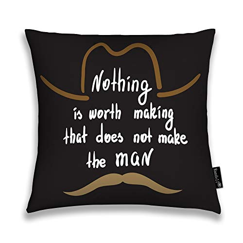 Throw Pillow Covers Nothing Worth Making That Does Not Make The Man Home Decorative Throw Pillowcases Couch Cases 26