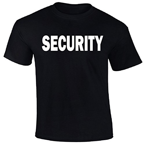 sokos t-shirt Security Police T-Shirt Custom Screen Printed on Front & Back & Sleeves (XXL) - Back Screen Printed