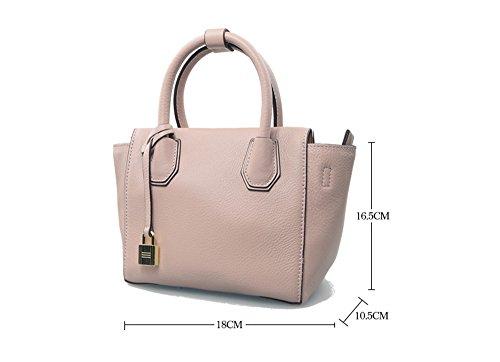 Frühling und Sommer einfache Handtasche Mini-Tasche Mode Tasche Schulter Messenger Bag neue Handtaschen ( Farbe : Pink ) Rot deZBJOSAlY