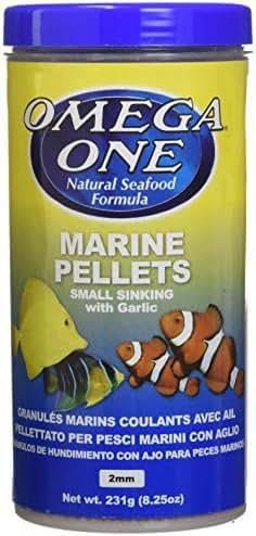 OMEGA 02411 1 One Garlic Marine Pellet Small 8.25oz, Yellow
