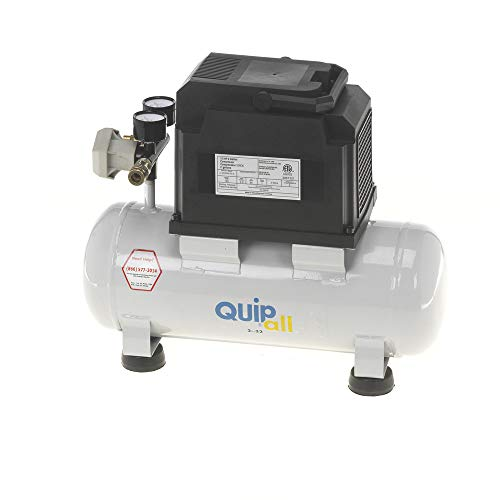 Quipall 2-.33 Oil Free Compressor, 1/3 HP, 2 Gallon,Steel Tank (Best 2 Gallon Air Compressor)